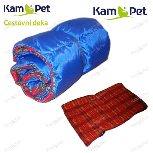 Cestovní deka pro psa šusťáková MODRÁ