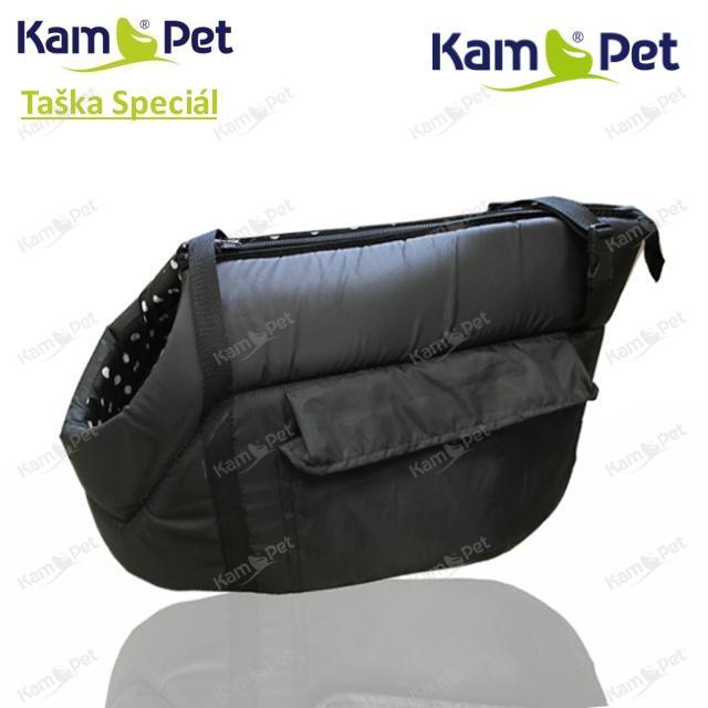 SADA Taška na psa vel. 30-50 KamPet Speciál ČERNÝ šusťák /uvnitř jakákoliv barva skladem