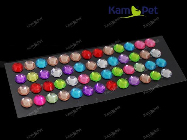 Nalepovací kamínky MIX barev, bal. 1karta