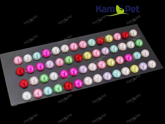Nalepovací kamínky perly MIX barev, bal. 1karta