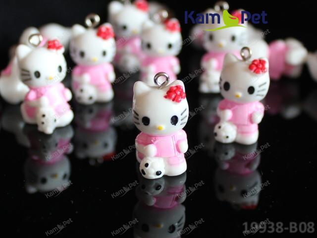 Kovový přívěšek Hello Kitty růžová, á 1ks