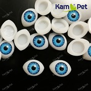 Oči na výrobu panenek s modrou duhovkou, bal. 2ks