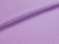 Látka bavlna světle fialová / 01 bílý puntík, á 1m