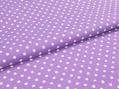 Látka bavlna světle fialová / 06 bílý puntík, á 1m