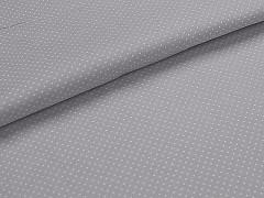 Látka bavlna šedá / 01 bílý puntík, á 1m
