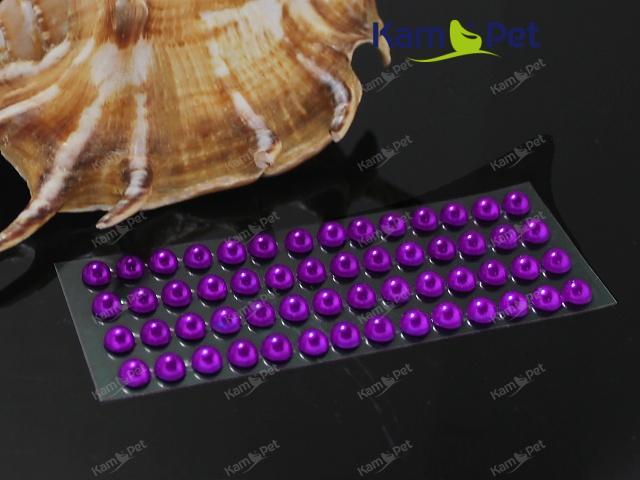 Samolepící perly 5mm TMAVĚ FIALOVÉ, bal. 1karta