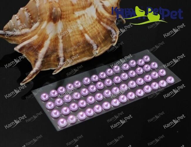 Samolepící perly 5mm RŮŽOVO-FIALOVÉ, bal. 1karta