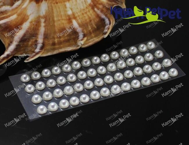 Samolepící perly 5mm BÍLÉ, bal. 1karta