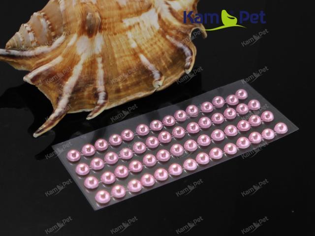 Samolepící perly 5mm RŮŽOVÉ, bal. 1karta