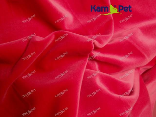 Látka bavlněný samet červený