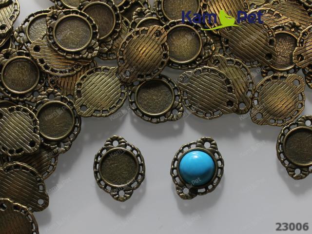 Bižuterní lůžko = ramínko bronzové, bal. 2ks