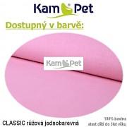 Polohovací lehátko č. 1 KamPet Classic růžový