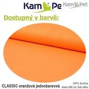 Polohovací lehátko č. 1 KamPet Classic oranžový