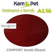 Sedací vak Beanbag 90 KamPet Comfort barva AL16 bordó žíhaná