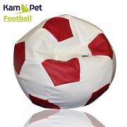 Sedací vak KamPet Football 90 COMFORT bíločervený