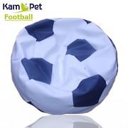 Sedací vak KamPet Football 90 COMFORT bílomodrý