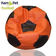 Sedací vak KamPet Football 90 COMFORT oranžovočerný
