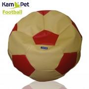 Sedací vak KamPet Football 90 COMFORT žlutočervený