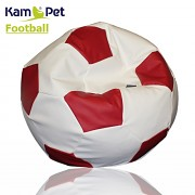 Sedací vak KamPet Football 150 COMFORT bíločervený