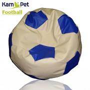 Sedací vak KamPet Football 150 COMFORT smetanovomodrý