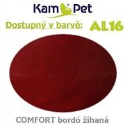 Sedací vak Hruška 110 KamPet Comfort barva AL16 bordó žíhaná