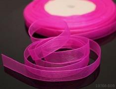 Růžová cyklám stuha organzová 6mm organza stužka šifónová magenta, á 1m