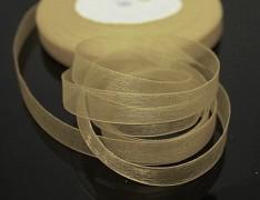 Krémová stuha organzová 6mm organza stužka šifónová krémová, á 1m