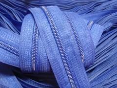 Zipová páska v metráži - modrá jasná