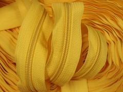 Zipová páska v metráži - žlutá