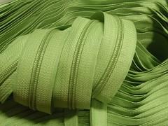 Zelený limetkový zip nekonečný zipová páska metráž zipu