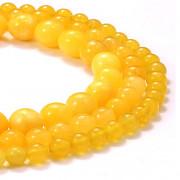 Žlutý Jadeit kuličky 6mm přírodní minerál