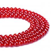 Červený Jadeit kuličky 6mm přírodní minerál