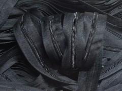 Černý zip nekonečný zipová páska metráž zipu