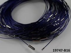 Modrá tmavě obruč na náhrdelník lanko se šroubkem náhrdelník