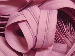 Růžový zip nekonečný zipová páska metráž zipu