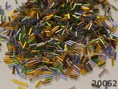 Skleněný rokajl trubičky 7/2mm AB MIX