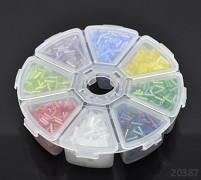 Pestrobarevný mix skleněný rokajl trubičky 7/2mm AB MIX v boxu
