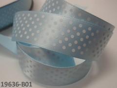 Stuha puntíky 22mm SV.MODRÁ/bílé, svazek 2m