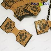 Karta na náramky, náhrdelníky přírodní, bal. 25ks