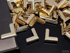 Kovové rohy 19mm zlaté, bal. 4ks