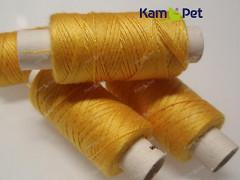 Žluté nitě na koženku, rins a nylon 24/3 návin 100m
