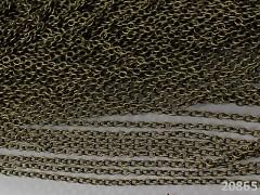 Bronzový řetízek bižuterní řetízek 3/4/0.7, á 1m