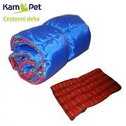 Cestovní deka pro psa šusťáková KamPet MODRÁ vel. 9