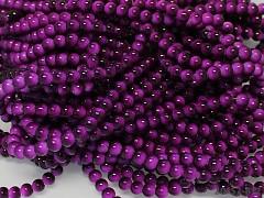 Korálky sklo kuličky 6mm FIALOVÉ, 20ks