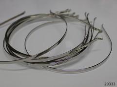 čelenka do vlasů 4mm platinová, á 1ks