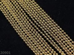 Zlatý kuličkový řetízek bižuterní řetízek kuličky 2mm