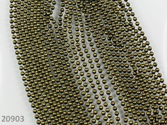 Bronzový kuličkový řetízek bižuterní řetízek kuličky 2mm