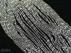 Platinový kuličový / válečkový řetízek bižuterní řetízek 2mm