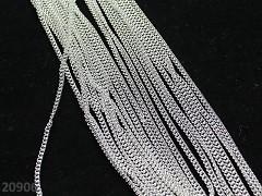 Stříbrný LUXUSNÍ řetízek bižuterní řetízek 2.5/2.5mm