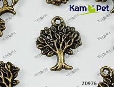 Bronzový vintage přívěšek strom života, bal. 2ks